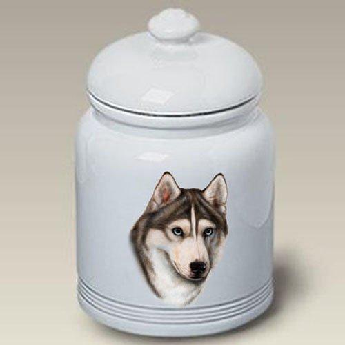 Siberian Husky Grey - Tamara Burnett Treat Jars ()