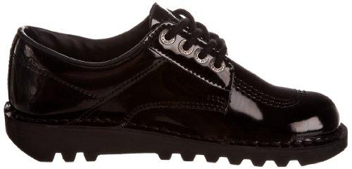 Derby Nero Black Donna Kickers Stringate Lo Scarpe Basse Patent Kick Core 887TYBq