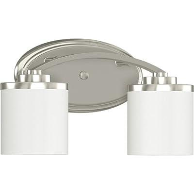 Monument 2479593 Dual Lamp Brushed Nickel Vanity Fixture