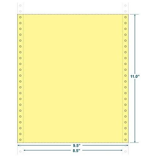 9-1/2'' x 11'' (W x H) Continuous 20# Canary Computer Paper, Blank-microperf (Carton of 2500) (Canary)