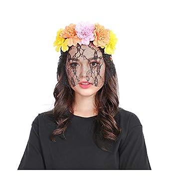 Amazon Com Timee Women S Flower Veil Headband Hairband Party