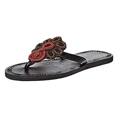 Pambo Flip Flop Slippers for Women - Black