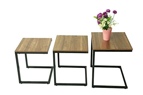Premier NT4540-3 - Juego de mesa auxiliar apilable para sofa o sofa