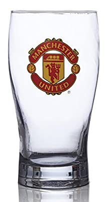 Manchester United FC Pint Glass - Great for all Soccer Fans! - 100% Licensed Product - Collector's Design - Authentic Imported Beer Glass