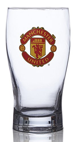 Manchester United Supporter (Manchester United FC Pint Glass - Great for all Soccer Fans! - 100% Licensed Product - Collector's Design - Authentic Imported Beer Glass)