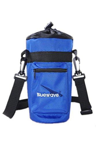 Bluewave 1 Liter/ 1000ml Wasserflasche Isolierte Flaschenbeutel Flaschentasche - Isolierte tragbare Hülsenfördermaschine für draußen, Wandern, Sport, Reisen Blau