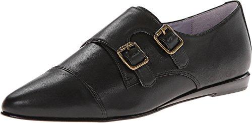 Johnston & Murphy Women's Jade Monk Strap Saddle Black Loafers, Oxfords Flats, Shoes Heels Size 7 M