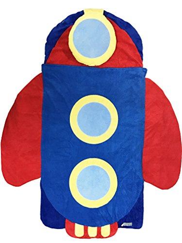 Iopoio Kids Boy Unisex Nap Mat Spencer the Spaceship Slumber Bag Sleeping bag