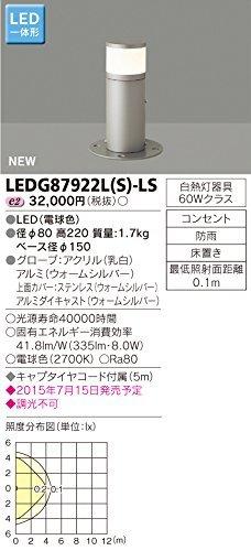 東芝ライテック LED一体形ガーデンライト 門柱灯 アウトドアスタンド 上面カバー付 ウォームシルバー B00ZZ49GGK 16240