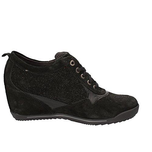 KEYS Sneakers Donna Nero Camoscio AE590