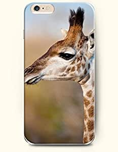 iPhone 6 Plus Case 5.5 Inches Sleepy Giraffe - Hard Back Plastic Case OOFIT Authentic
