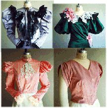 Victorian Blouses, Tops, Shirts, Vests 1890s Victorian or Western Waist Blouse Pattern                               $13.95 AT vintagedancer.com