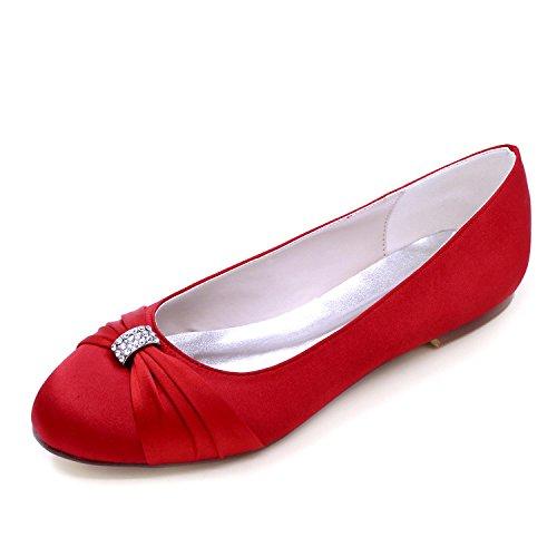 Elobaby Punta Red F9872 Office amp; Estrecha Ballet Confort Mujeres Las 06 Marfil Boda de Redondo Career Para qwFxqrBP