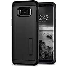 Spigen Tough Armor Galaxy S8 Case with Kickstand and Extreme Heavy Duty Protection and Air Cushion Technology for Samsung Galaxy S8 (2017) - Black