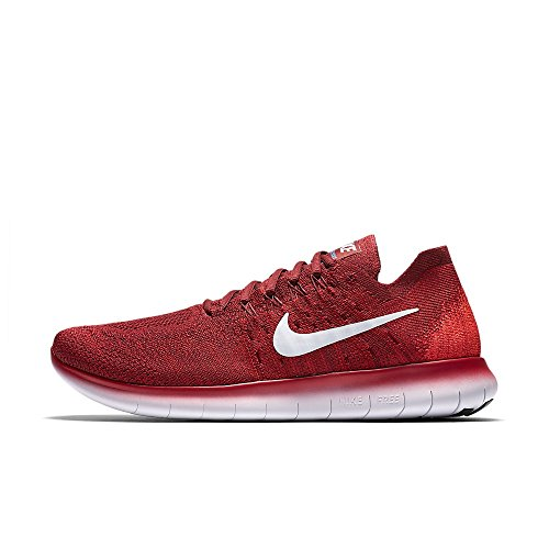 Nike Free RN Flyknit 2017, Zapatillas de Trail Running Para Hombre, Rojo (Team Red/Pure Platinum/University Red 600), 45 EU