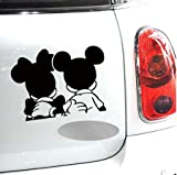 Labu Store Design Car Styling Funny Reflective Mickey Minnie Stickers for Car Tesla Volkswagen Ford Toyota Renault Opel