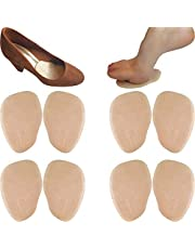 Chiroplax High Heel Cushion Inserts Pads (4 Pairs) Suede Ball of Foot Forefoot Metatarsal Anti Slip Shoe Insoles for Women