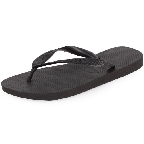 Havaianas Top Unisex Synthetic Flip Flops Black - 35/36 Brazilian