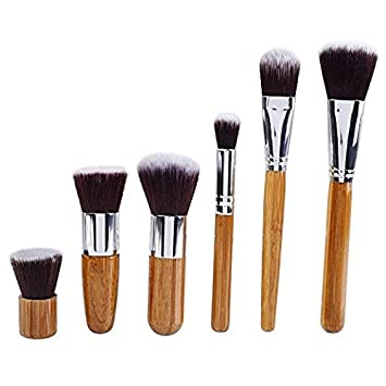 85bad468a541 Amazon.com: Yocitoy Bamboo Naturals Makeup Brushes, Bamboo Handles ...