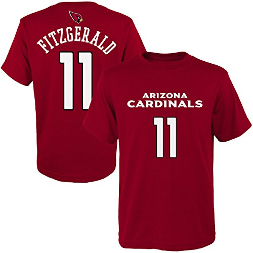 Larry Fitzgerald Arizona Cardinals #11 Red Home Youth Player Name And Number T Shirt (Medium 10/12)