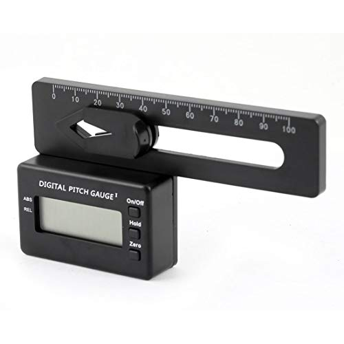 Aexit DC3V Black Measuring Tools Plastic Magnetic Micro Digital Pitch Gauge for RC Helicopter Model:18as141qo765