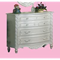 ACME 01015 Pearl Single Dresser, Pearl White Finish