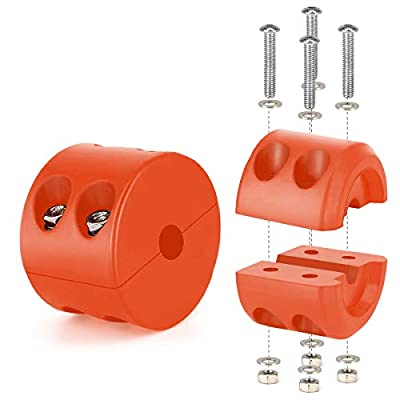 WOFTD Winch Cable Hook Stopper Rubber Winch Rope Line Saver with Aluminum Allen Wrench 2 Pieces Prevent Pulling,Eliminate Abrasion,Bouncing for ATV UTV Winches (Orange): Automotive