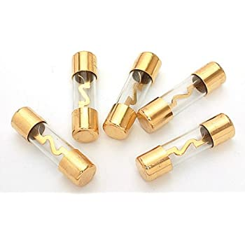 Absolute AGU100 5 Pack AGC Gold Standard Glass Fuses 100 Amp 12 Volts Car Stereo Access