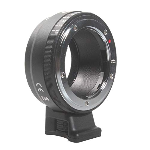 Amex's NF-NEX Lens Mount Adapter for Nikon F&G Series Lenses to Sony E Mount Cameras with Manual Aperture Adjustment