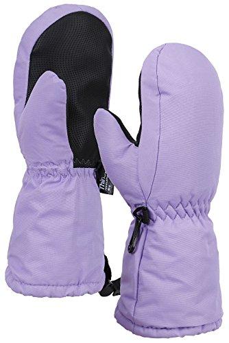 Toppers Kids Thinsulate Lined Waterproof Winter Sport Ski Gloves Light Purple (Light Purple Mittens)
