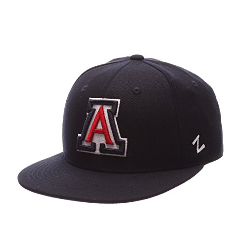 Zephyr NCAA Arizona Wildcats Men's M15 Fitted Hat, Navy, Size 7 1/2 -