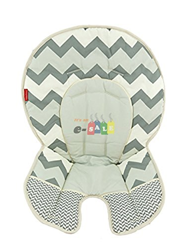 Fisher Price Space Saver High Chair Replacement (DLG99 GRAY ZIG ZAG PAD)