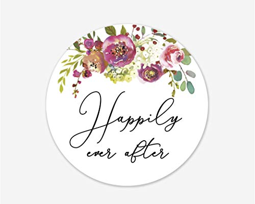 (Happily Ever After Stickers, Wedding and Bridal Shower Event Favor Labels (#379-020) )