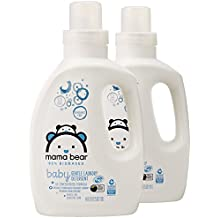Amazon Brand - Mama Bear Gentle Baby Laundry Detergent, 95% Biobased, Fragrance Free, 106 Loads (Pack of 2, 53 Loads Each)
