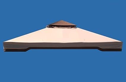 417177A Toldo para pérgola 3 x 4 400 g, tela reforzada con PU, recambio con chimenea cortavientos, recambio antilluvia 3 x 4. TELO 3X3 SPALMATO IN PVC
