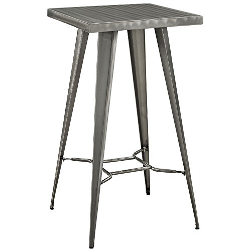 Modway Direct Bar Table, Gunmetal