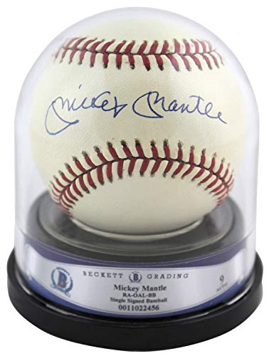 Yankees Mickey Mantle Autographed Signed Oal Baseball Auto Graded 9 Bas #11022456 - Certified Signature