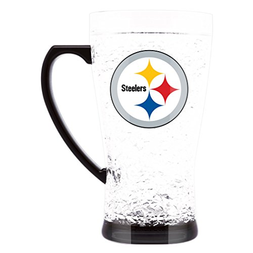 (NFL Pittsburgh Steelers 16oz Crystal Freezer Flared Mug)