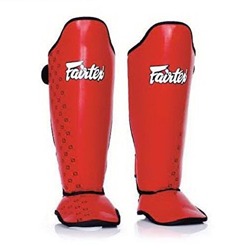 FAIRTEX COMPETITION SHIN GUARDS -SP5- RED (MEDIUM)