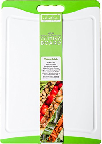 Dishwasher Safe Large Plastic Cutting Board With Non-Slip Silicone Edges and Drip Juice Groove. Acrylic Polypropylene White With Lime Green a Beautiful Cutting Board by Dutis - White The World Fastest In Woman The