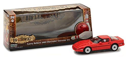 1985 Chevrolet Corvette C4 The Big Lebowski 1/43 Infantil Greenlight Vermelho