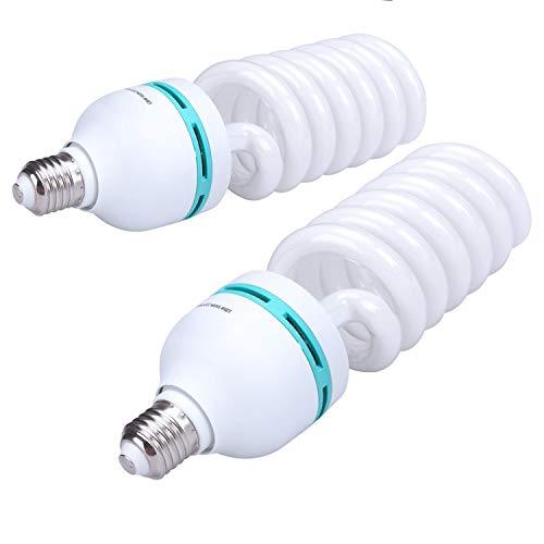 2PCS Photo Studio Photography Photography Photo CFL 85W 5500k Day Light Fluorescent Full Spectrum Bulb E27 Base
