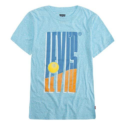 Levi's Boys' Big Graphic T-Shirt, Norse Blue Snow Yarn -