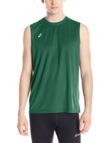ASICS Men's Circuit 8 Warm-up Sleeveless, Forest, X-Large