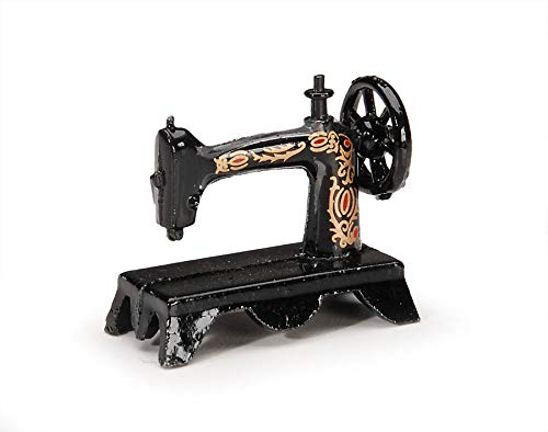 (Miniatures- Black Singer Sewing Machine - 1.25 inches)