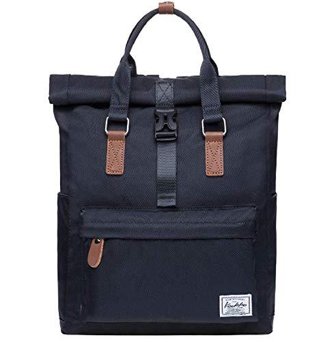 KAUKKO Waterproof Black Satchel Backpack