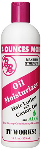 BB Oil Moisturizer, Hair Lotion With Castor Oil and Aloe, Maximum Strength, 12-Ounce Bottles (Pack of 6) (12 Hair Oz Lotion Bottle)