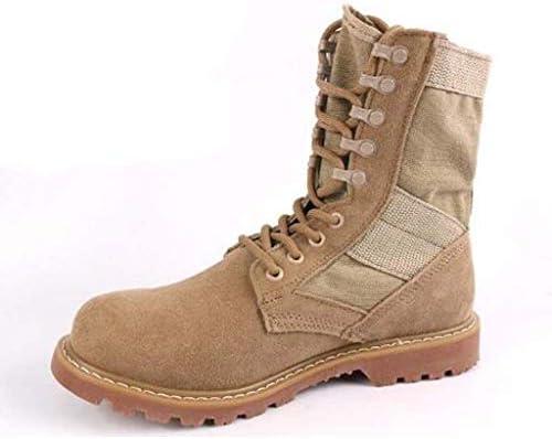 男性砂漠の戦闘ブーツのための軍事戦術的なブーツは、屋外軍事旅行のスタイル防水ファブリックフェイクスエードハイトップ滑り止めをひもで締めます (色 : 褐色, サイズ : 24 CM)