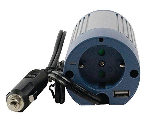 Profi Wechselrichter 12V - 230V 100W + USB Port Spannungswandler Zigarettenanzünder Steckdose Adapter Konverter Converter Strom für KFZ Auto Boot