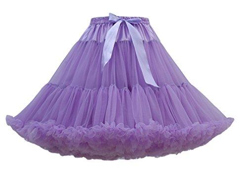 Plisada Fiesta Faldas Morado Cortas De Mujeres Tul Enaguas Plisadas Ligero Retro Vintage Ballet BnFCqUU0w